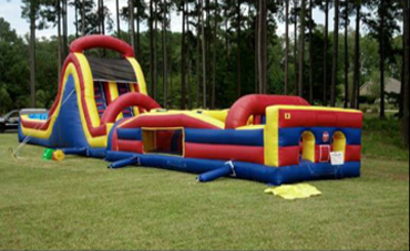 Multi-Color Inflatable Obstacle Course